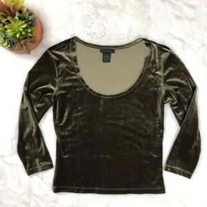 The Limited Crushed Velvet Top Round Neck TLMT34